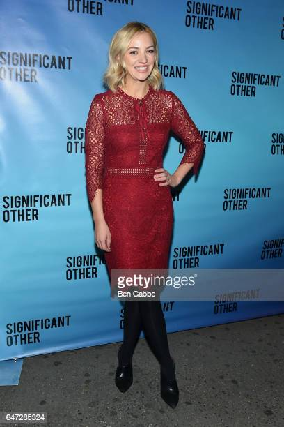 Actress Abby Elliott attends the 'Significant Other' Opening Night Premiere at Booth Theatre on March 2 2017 in New York City