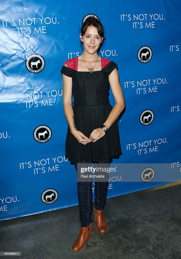 Actress Abby Miller attends the Los Angeles premiere 'It's Not You, It's Me' at the Downtown Independent Theatre on September 18, 2013 in Los Angeles, California.