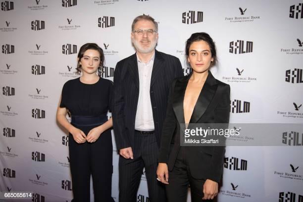Actress Abby Quinn actress Jenny Slate and executive director Noah Cowan arrive at the opening night screening of 'Landslide' at 60th San Francisco...