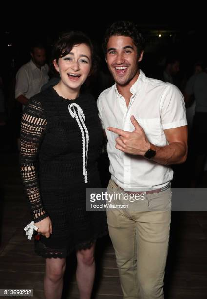 Actress Abby Quinn and actor Darren Criss attend the Los Angeles Premiere of 'LANDLINE' at ArcLight Hollywood Cinemas on July 12 2017 in Los Angeles...