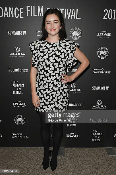 Actress Abby Quinn attends the 'Landline' premiere during day 2 of the 2017 Sundance Film Festival at Eccles Center Theatre on January 20 2017 in...
