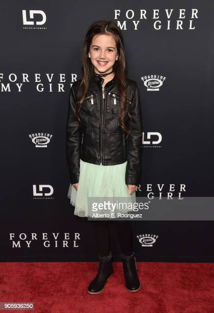 Actress Abby Ryder Fortson attends the premiere of Roadside Attractions' 'Forever My Girl' at The London West Hollywood on January 16 2018 in West...