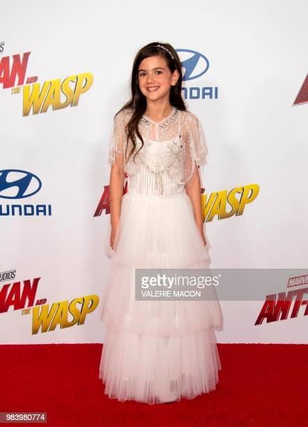 US actress Abby Ryder Fortson attends the World Premiere of Marvel Studios' 'AntMan and The Wasp' at the El Capitan Theater on June 25 in Hollywood...