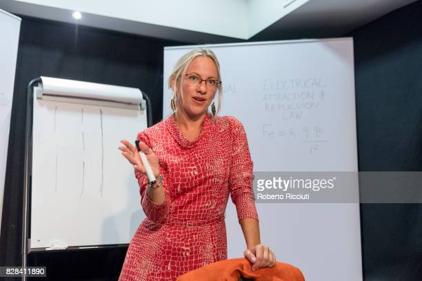 Actress Abi McLoughlin performs on stage 'The Principle of Uncertainty' at Sweet Venues during the 70th Edinburgh Fringe Festival on August 9 2017 in...