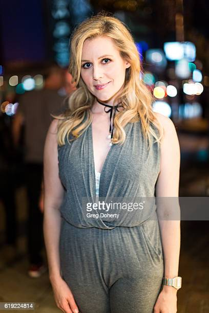 Actress Abi Titmuss attends the Gallery Opening Of Social Distortion A Capsule Collection Of Fine Art By Billy Morrison at Art On Scene on October 29...