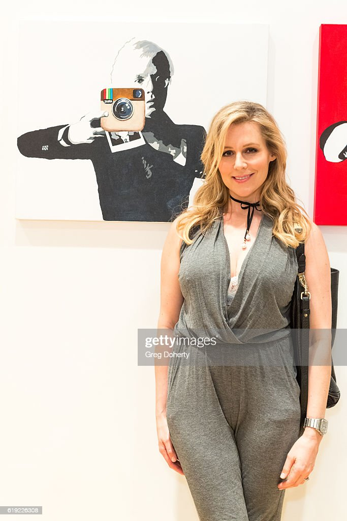 Actress Abi Titmuss attends the Gallery Opening Of Social