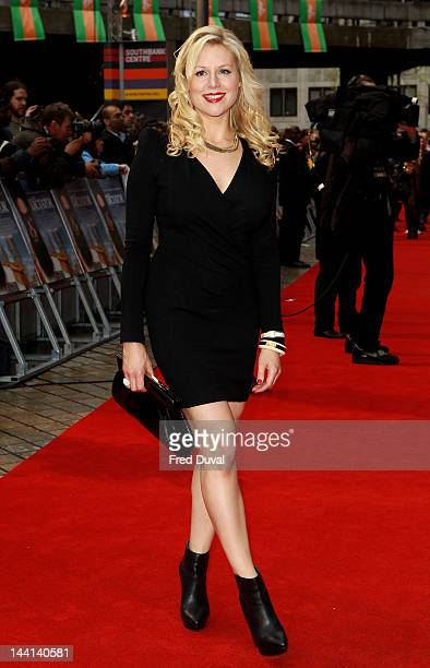 Actress Abi Titmuss attends the World Premiere of 'The Dictator' at The Royal Festival Hall on May 10 2012 in London England