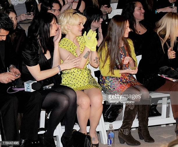 Actress Abigail Breslin and TV personality Kelly Osbourne attend the Nanette Lepore Fall 2010 fashion show during MercedesBenz Fashion Week at Bryant...