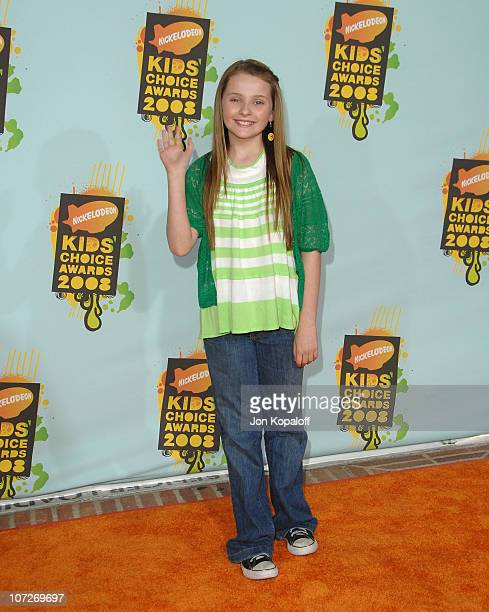 Actress Abigail Breslin arrives at Nickelodeon's 2008 Kids' Choice Awards at the Pauley Pavilion on March 29 2008 in Los Angeles California