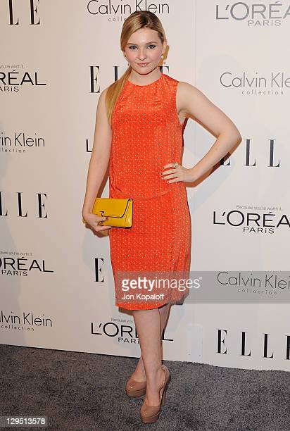 Actress Abigail Breslin arrives at the 18th Annual ELLE Women In Hollywood Tribute at The Four Seasons Hotel on October 17, 2011 in Beverly Hills,...