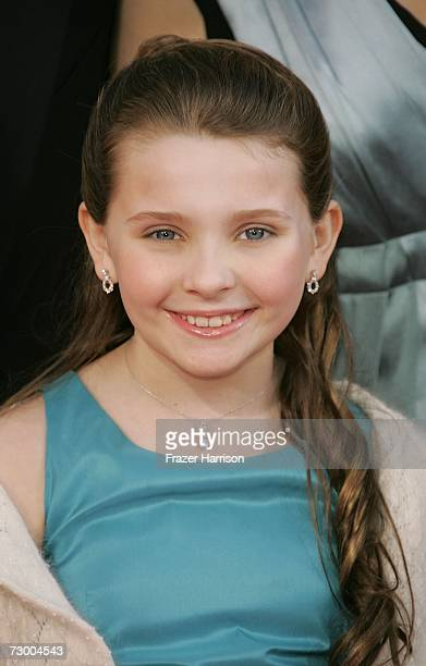 Actress Abigail Breslin arrives at the 64th Annual Golden Globe Awards at the Beverly Hilton on January 15 2007 in Beverly Hills California