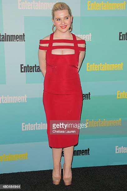 Actress Abigail Breslin arrives at the Entertainment Weekly celebration at Float at Hard Rock Hotel San Diego on July 11 2015 in San Diego California