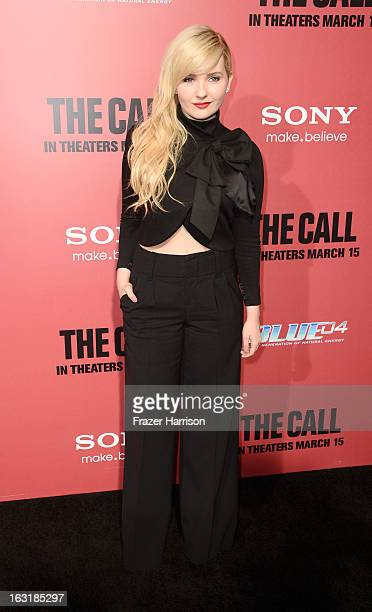 Actress Abigail Breslin arrives at the premiere Of Tri Star Pictures' 'The Call' at ArcLight Cinemas on March 5 2013 in Hollywood California