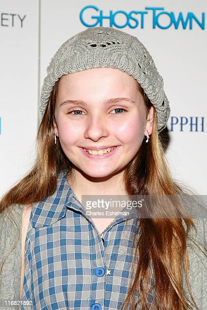 Actress Abigail Breslin arrives at the screening of 'Ghost Town' hosted by The Cinema Society with Brooks Brothers and Bombay Sapphire at the IFC...