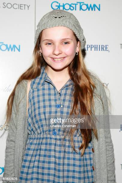 Actress Abigail Breslin arrives at the screening of Ghost Town hosted by The Cinema Society with Brooks Brothers and Bombay Sapphire at the IFC...