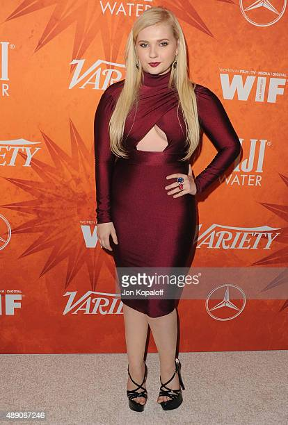 Actress Abigail Breslin arrives at the Variety And Women In Film Annual Pre-Emmy Celebration at Gracias Madre on September 18, 2015 in West...