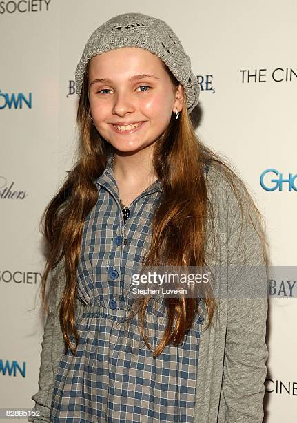 Actress Abigail Breslin attends a special screening hosted by The Cinema Society with Brooks Brothers and Bombay Sapphire at The IFC Center on...