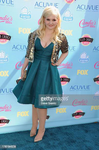 Actress Abigail Breslin attends the 2013 Teen Choice Awards at Gibson Amphitheatre on August 11 2013 in Universal City California