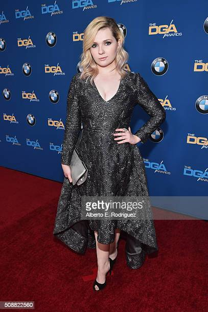 Actress Abigail Breslin attends the 68th Annual Directors Guild Of America Awards at the Hyatt Regency Century Plaza on February 6 2016 in Los...
