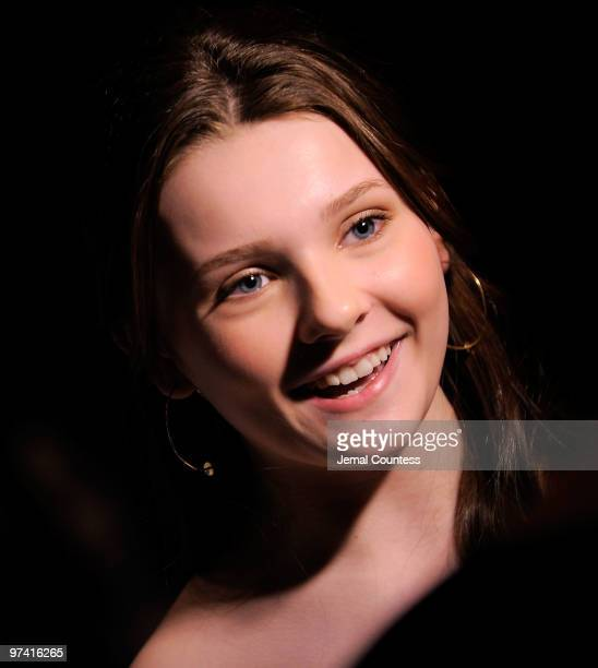 "Actress Abigail Breslin attends the after party for the Broadway opening of ""The Miracle Worker"" at Crimson on March 3, 2010 in New York City."