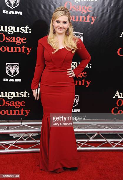 Actress Abigail Breslin attends the August Osage County premiere at Ziegfeld Theater on December 12 2013 in New York City