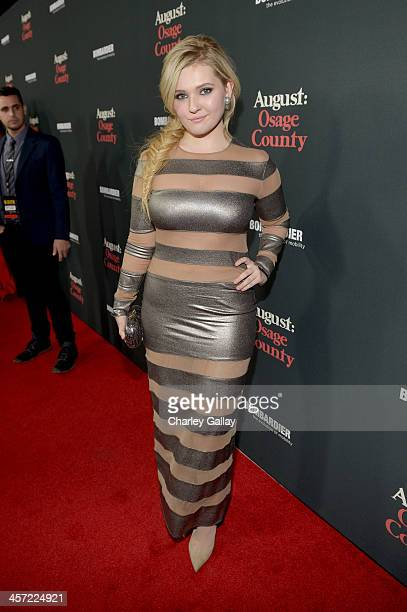 """Actress Abigail Breslin attends the LA premiere Of """"August: Osage County"""" presented by The Weinstein Company in partnership with Bombardier at Regal..."""