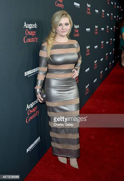 Actress Abigail Breslin attends the LA premiere Of 'August Osage County' presented by The Weinstein Company in partnership with Bombardier at Regal...