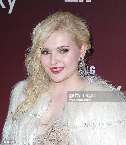 Actress Abigail Breslin attends the premiere of FOX TV's 'Scream Queens' at The Wilshire Ebell Theatre on September 21 2015 in Los Angeles California