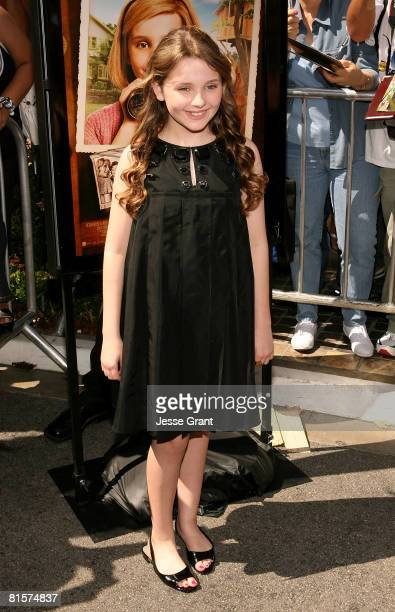 Actress Abigail Breslin attends the premiere of Kit Kittredge An American Girl at The Grove on June 14 2008 in Los Angeles California