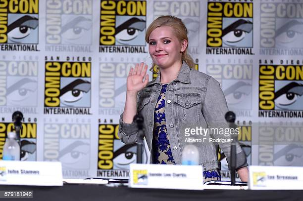 Actress Abigail Breslin attends the Scream Queens panel during ComicCon International 2016 at San Diego Convention Center on July 22 2016 in San...