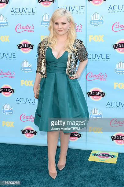 Actress Abigail Breslin attends the Teen Choice Awards 2013 at Gibson Amphitheatre on August 11 2013 in Universal City California