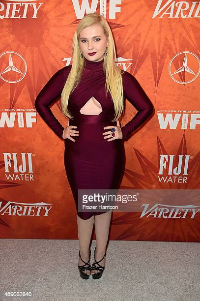 Actress Abigail Breslin attends the Variety and Women in Film Annual PreEmmy Celebration at Gracias Madre on September 18 2015 in West Hollywood...