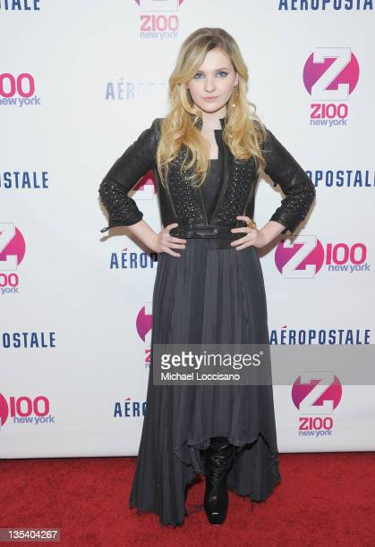 Actress Abigail Breslin attends Z100's Jingle Ball 2011 presented by Aeropostale Madison Square Garden on December 9 2011 in New York City