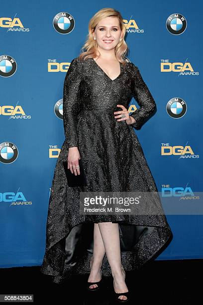 Actress Abigail Breslin poses in the press room during the 68th Annual Directors Guild Of America Awards at the Hyatt Regency Century Plaza on...