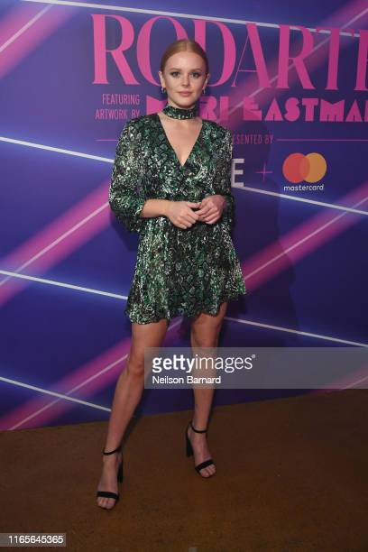 Actress Abigail Cowen attends a limited edition capsule presentation by Rodarte featuring artwork by Mari Eastman and hosted by Made and Mastercard...