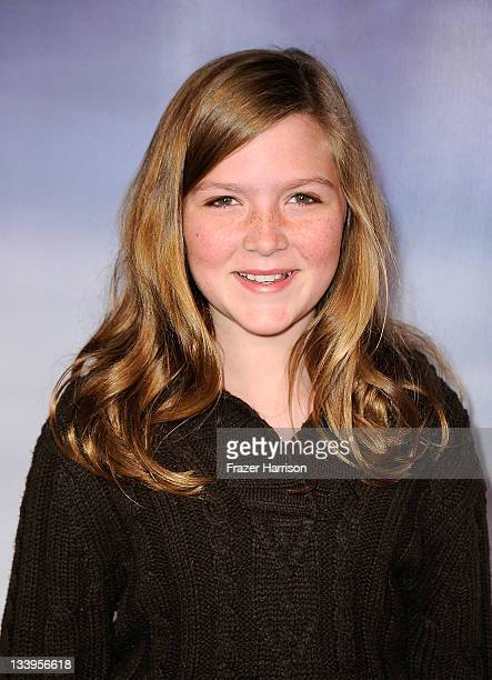 Actress Abigail Hargrove arrives at Paramount Pictures' Super 8 Bluray and DVD release party at AMPAS Samuel Goldwyn Theater on November 22 2011 in...
