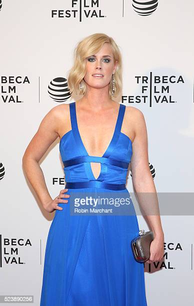 Actress Abigail Hawk attends 'Almost Paris' Premiere 2016 Tribeca Film Festival at Chelsea Bow Tie Cinemas on April 24 2016 in New York City