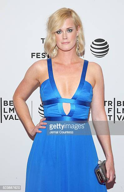 Actress Abigail Hawk attends the 'Almost Paris' Premiere at Chelsea Bow Tie Cinemas on April 24 2016 in New York City