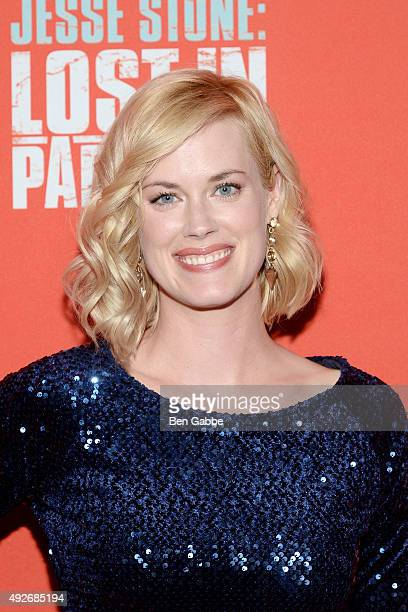 Actress Abigail Hawk attends the 'Jess Stone Lost In Paradise' New York Premiere at Roxy Hotel on October 14 2015 in New York City