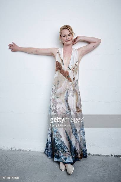 Actress Abigail Hawk from Almost Paris poses at the Tribeca Film Festival Getty Images Studio on April 16 2016 in New York City