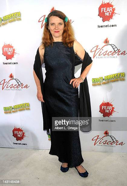 Actress Abigail Hopkins arrives for the cast/crew Screening Of 'Among Friends' held at the Jon Lovitz Comedy Club on April 17 2012 in Universal City...