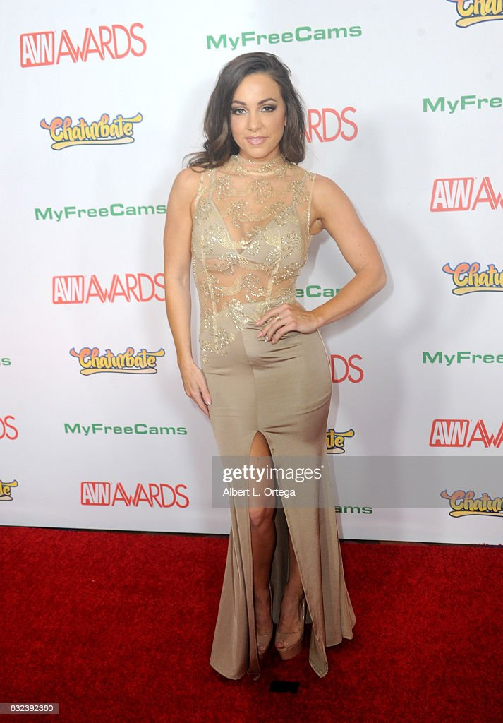 Actress Abigail Mac arrives at the 2017 Adult Video News Awards held at the Hard Rock Hotel & Casino on January 21, 2017 in Las Vegas, Nevada.