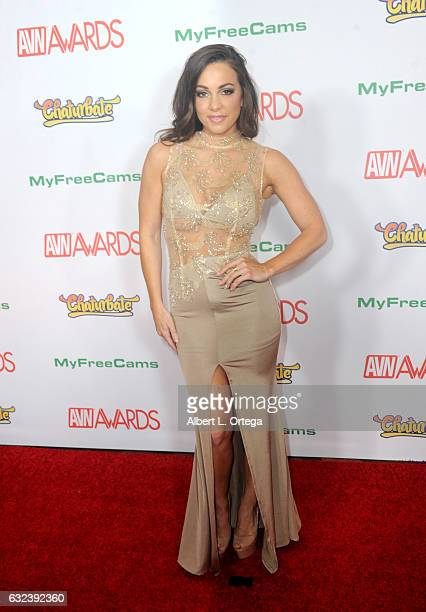 Actress Abigail Mac arrives at the 2017 Adult Video News Awards held at the Hard Rock Hotel Casino on January 21 2017 in Las Vegas Nevada