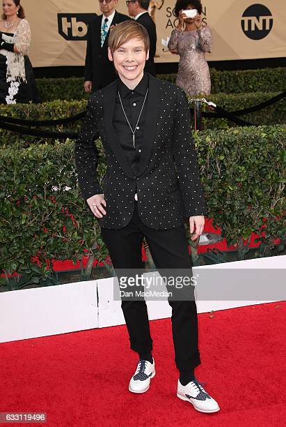 Actress Abigail Savage arrives at the 23rd Annual Screen Actors Guild Awards at The Shrine Expo Hall on January 29, 2017 in Los Angeles, California.