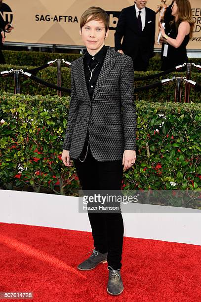 Actress Abigail Savage attends the 22nd Annual Screen Actors Guild Awards at The Shrine Auditorium on January 30 2016 in Los Angeles California