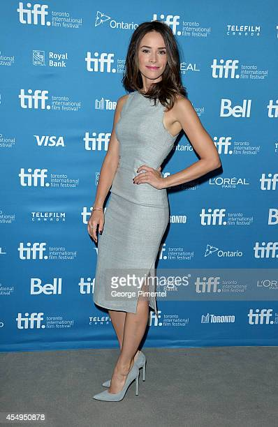 Actress Abigail Spence poses at 'This Is Where I Leave You' Press Conference during the 2014 Toronto International Film Festival at TIFF Bell...