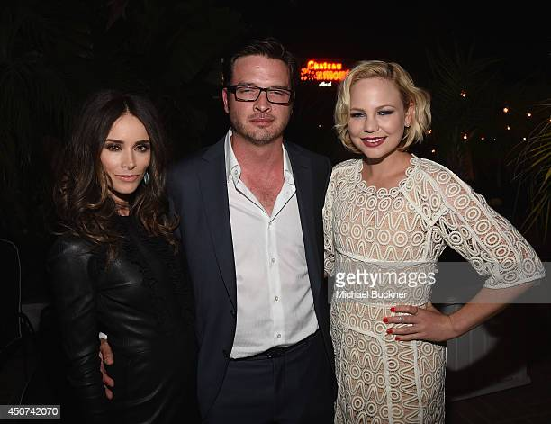 Actress Abigail Spencer actor Aden Young and actress Adelaide Clemens attend the after party for SundanceTV's 'Rectify' Season Two at the Chateau...