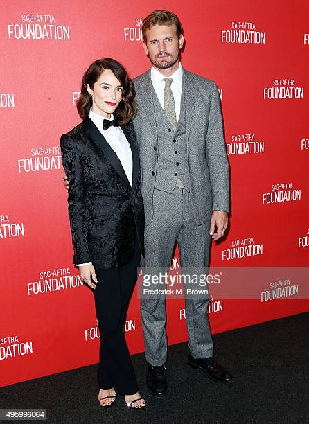 Actress Abigail Spencer and actor Josh Pence attend the Screen Actors Guild Foundation 30th Anniversary Celebration at the Wallis Annenberg Center...