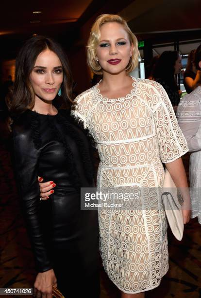 Actress Abigail Spencer and actress Adelaide Clemens arrives at the premiere of SundanceTV's 'Rectify' Season Two at Sundance Sunset Cinema on June...