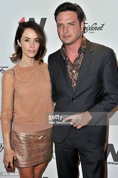 Actress Abigail Spencer and Aden Young arrive at TheWrap's 2nd Annual Emmy Party at The London Hotel on June 11 2015 in West Hollywood California